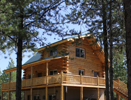 Canadian log homes meadowlark log homes for Home builders in canada