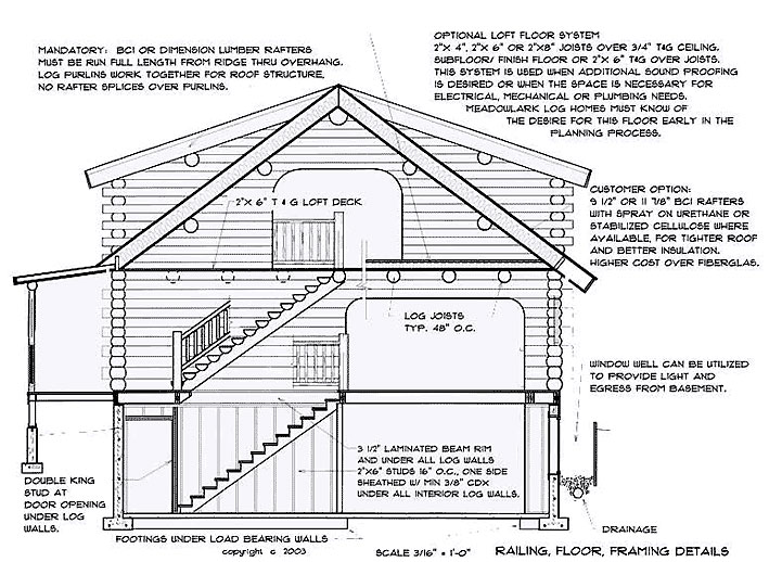 Construction Details Meadowlark Log Homes