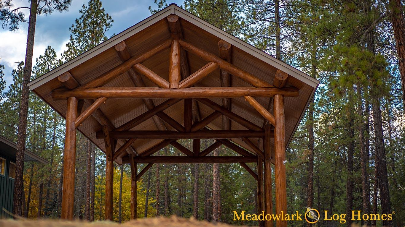 22x44 Heritage Log Pavilion Meadowlark Log Homes