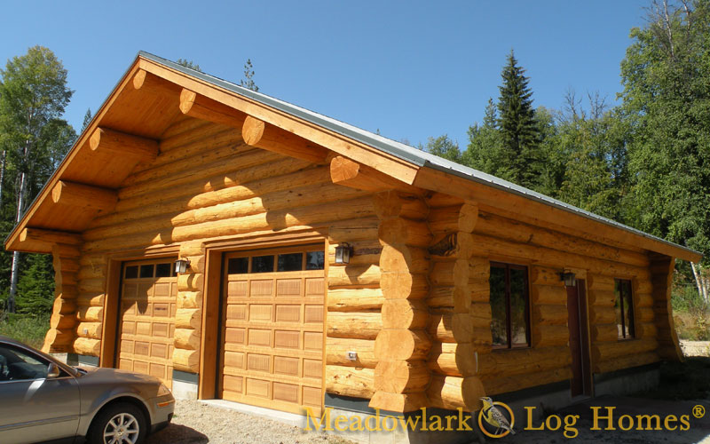 Garage With Meadowlark Butterfly Saddle Notch Corners