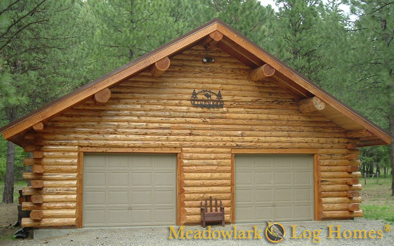 Log cabin garages for Log cabin garages for sale