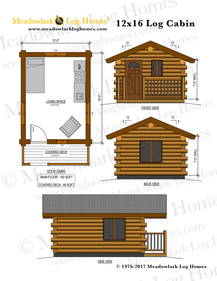 Small log cabin home plans 2018 home decor for Plans for log cabin homes
