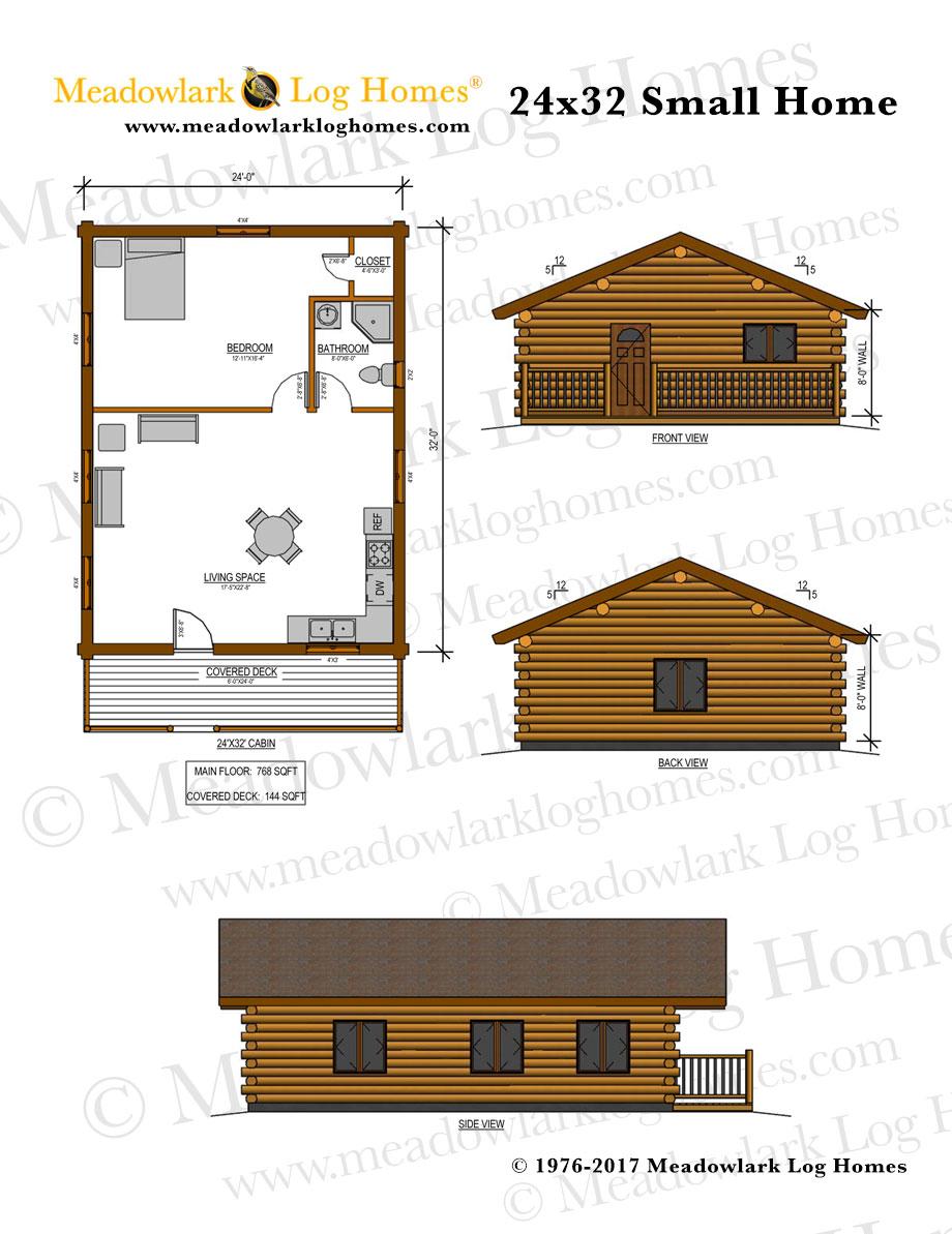 24x32 Log Home - Meadowlark Log Homes