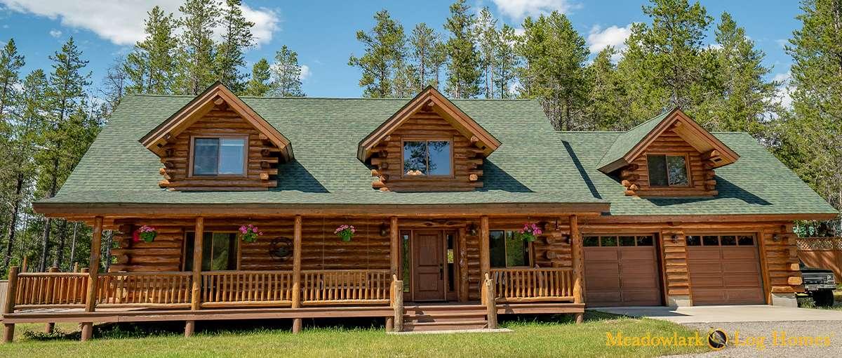 Silver wolf log homestead meadowlark log homes for 24x30 cabin